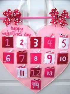 valentine count down DIY