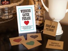 10 Wedding Shower Games and Activities: Guests will need to think quickly on their feet as they try to get through as many wedding words as possible before time runs out. The team with the most words at the end of two minutes wins. Before the shower, download, print and cut out the wedding catch-phrase cards. From DIYnetwork.com