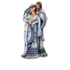 The Folk Art Polish Stoneware Pottery-Inspired Nativity Collection: Silent Night - love love love this!
