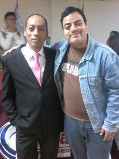 Periodista Armando Avalos y Freddie Armando Romero. (2015)