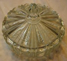 Clear Depression Glass Candy Dish | JPG?set_id=2