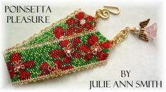 JULIE ANN SMITH DESIGNS *Poinsetta Pleasure Bracelet Pattern*