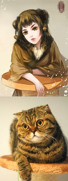 14 Adorable Kitties Reimagined As Anime Girls