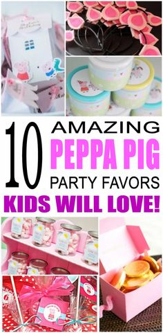Check out the coolest peppa pig birthday party favors for kids. Fun, easy and exciting peppa pig party favors from treats to toys for your special occasion. All the children will enjoy these ideal peppa pig gifts for a thank you.