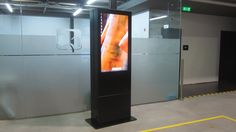 TEZIS double face interactive outdoor kiosk and digital billboard.  by PARTTEAM & OEMKIOSKS  see more at www.oemkiosks.com