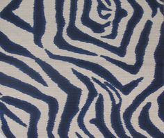 ZEBRA ikat in Navy FLAX one yard min need more let us know