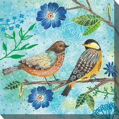 Floral Flight-Birds on Blue art by Lori Siebert by LoriSiebertStudio on Etsy - Travel tips - Travel tour - travel ideas Portfolio D'art, Vogel Illustration, Art Bleu, Art Du Collage, Bird Artwork, Bird Drawings, Watercolor Bird, Vintage Birds, Blue Art