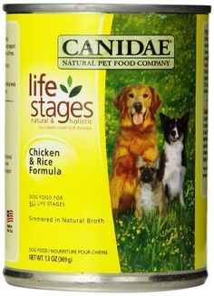 Canidae Canned Dog Food, Chicken and Rice Formula in Chicken Broth, 13-Ounce Can, 12 Count by Canidae -- Check out this great image  : Dog food brands