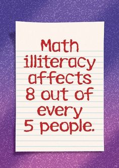 math illiteracy