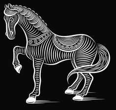 Brilliant-Digital-Art-and-Illustration artist Patrick Seymour Patrick Seymour, Op Art, Illustration Artists, Digital Illustration, Decorative Metal Screen, Year Of The Horse, Horse Drawings, Illusion Art, Horse Art