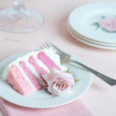 pink rainbow wedding layered cake