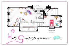 Breakfast at Tiffanys Apartment floorplan Poster by ~nikneuk on deviantART