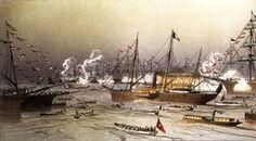 Inauguration du canal de Suez. Entrée à Port-Saïd du Yacht Impérial L'Aigle.