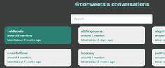 Conweets / Track Conversations on Twitter, una herramienta para poder acceder a la información en Twitter de una manera más selectiva gracias a su buscador de conversaciones y debates.