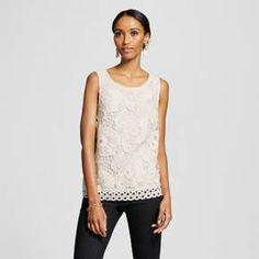 With elevated grace, the Women's Sleeveless Lace Blouse by Merona™ adds professional polish to your look. This lace tank top has grace and charm, making it perfect for today's feminine styles.