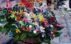 Confetto of Sulmona - traditional flowers made of Italian confetti candies (Jordan almonds) from the Abruzzo region.