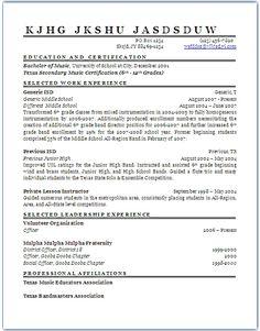 primary high school teacher resume httpwwwresumecareerinfo - How Should A Professional Resume Look