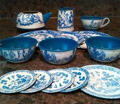 j chein tea set mother goose blue - Google Search