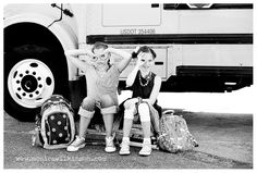 Don't take the first day back to school too seriously. Capture your kiddos being their silly selves! Source: Monica Wilkinson Photography