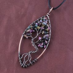 Tree of Life Tourmaline Necklace
