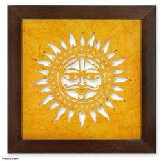 Sanjhi wall art - Sun Celebration | NOVICA