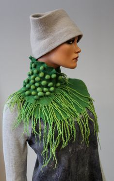 Felted scarf  'Shoots Sorbet' by doseth on Etsy, €59.00