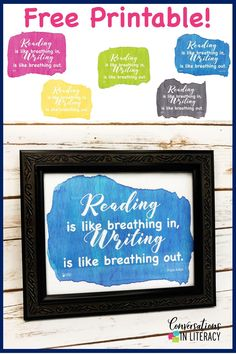 You can now print this quote and frame it for your classroom or office! It comes in different colors and is F R E E. You can find it in our Resource Library. #backtoschool #classroom #elementary #guidedreading #writing #classroomdecor #bulletinboard #conversationsinliteracy #kindergarten #firstgrade #secondgrade #thirdgrade #anchorchart #bulletinboard kindergarten, 1st grade, 2nd grade, 3rd grade