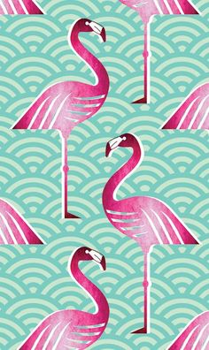Pink Flamingo! Wallpaper handmadebyme.co.za | WALLSISTAH.