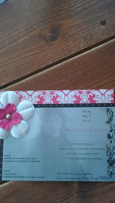 handmade wedding invites..