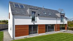 Crawfordsburn House, Co. Down — Paul McAlister Sustainable and Passive House Architects - Portadown, Belfast, Northern Ireland Contemporary House Plans, Modern House Design, Architect House, Architect Design, House Designs Ireland, House Ireland, House Plans Uk, Passive House Design, Beach House Tour