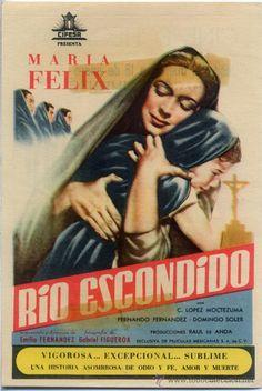 RIO ESCONDIDO 1947 (FOLLETO DE MANO ORIGINAL) MARIA FELIX - Foto 1