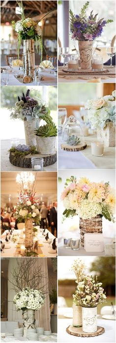 Wedding Centerpieces » 26 Ideas to Rock Your Winter Wedding with Birch Centerpieces