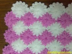 Lif örme videolu anlatım PART 1 - Crochet Bobble Puff Stitch Crochet, Baby Afghan Crochet, Crochet Motifs, Crochet Stitches Patterns, Baby Knitting Patterns, Crochet Designs, Rainbow Crochet, Love Crochet, Knit Crochet