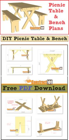 Used Woodworking Machinery Woodworking Bench Plans, Woodworking Projects Diy, Woodworking Workshop, Woodworking Tools, Diy Projects, Woodworking Machinery, Pallet Projects, Build A Picnic Table, Kids Picnic Table Plans
