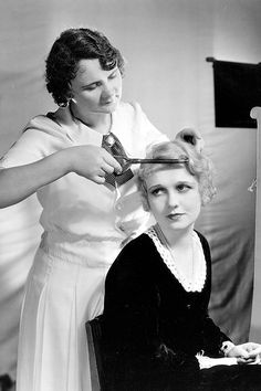 Anita Page. Oh the things we do for beauty. That 20's curling iron is amazing.