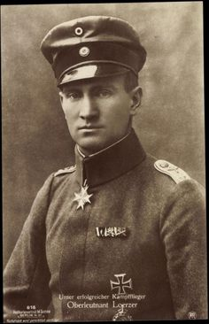Bruno Loerzer (1891-01-22 - 1960-08-23) was a German ace with 44 shot down planes and an officer in the German Luftstreitkräfte during World War I and Luftwaffe during World War II.