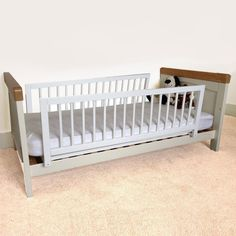Safetots Double Sided Wooden Bed Guard - Two Toddler Bed Rails White