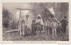 Indians at Fort Providence , Mackenzie river , Canada , 1910s - Delcampe.com