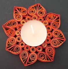 quilled mirror instead of a candle