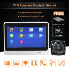 Wireless Video Door Phone Smart WIFI Peephole Doorbell Intercom 7 inch 1024 *600 Touch Screen + 2.0 mega door cameras | New Gadgets Info