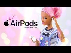 by request: Get Fancy! now your dolls can get fancy too with these DIY Doll Apple Air Pods made from recycled paper! thats right folks . Diy Barbie Clothes, Barbie Clothes Patterns, Barbie Hair, Barbie Dolls, Monster High Crafts, Myfroggystuff, Recycled Paper Crafts, Diy Barbie Furniture, Barbie Miniatures