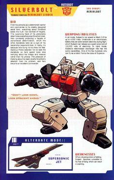 Transformer of the Day: Silverbolt Transformers Decepticons, Transformers Characters, Gi Joe, Transformers Generation 1, Comic Art, Comic Books, Animation Film, Manga, Childhood