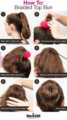 Who says buns can't be glam? Add some braids and use a bun-maker for an even more fabulous version of the go-to high bun. Who says buns can't be glam? Add some braids and use a bun-maker for an even more fabulous version of the go-to high bun. Dance Hairstyles, Kids Braided Hairstyles, Little Girl Hairstyles, Cool Hairstyles, Gymnastics Hairstyles, Braided Ponytail, Everyday Hairstyles, Bun With Braid, Wedding Hairstyles
