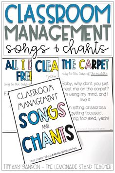 These songs and chants are a perfect classroom management tool for your kindergarten or elementary school classroom! These classroom management songs and chants are a simple way to keep students engaged, focused, and ready to learn!