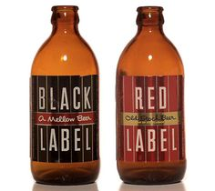 Red Label and Black Label Beer Bottles - I like the simplicity of it (EE)