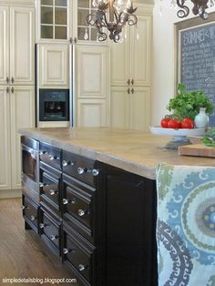 Simple Details: how to get a high end look from stock cabinets. GREAT ideas for my new kitchen! Kitchen Facelift, Kitchen Redo, Home Decor Kitchen, New Kitchen, Kitchen Remodel, Diy Home Decor, Kitchen Ideas, Kitchen Island, High End Kitchens
