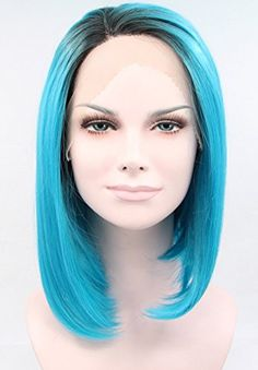 K'ryssma Short Bob Lace Front Synthetic Wig Dark Root Blue Ombre Wig Straight Heat Resistant Fiber Hair 12 Inches (Side Part) K'ryssma http://www.amazon.com/dp/B00UZUG2BG/ref=cm_sw_r_pi_dp_bNGCvb032CBPH