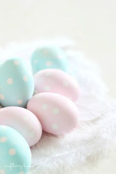 craftberry bush - easter - polka dot easter eggs