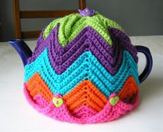 Easy Ripple Tea Cosy - Click image to find more DIY & Crafts Pinterest pins