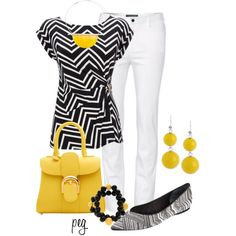 Black and White with a Twist, created by derniers on Polyvore